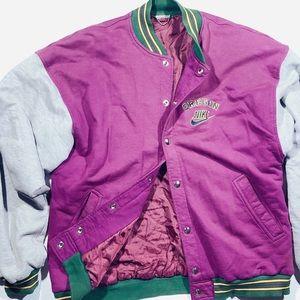 Vintage Nike Bomber Jacket Purple/Grey-Men's Large